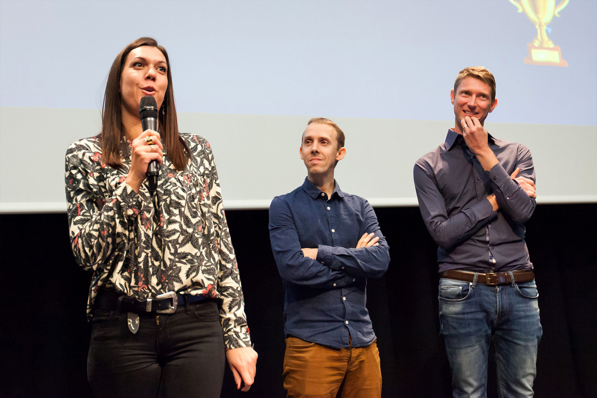 Jury. From left to right: Mélissa Bourgeois, Guillaume Coudriau, Thomas Longuemart